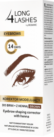 Eyebrow shaping corrector with henna