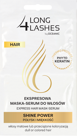 Ekspresowa  maska-serum do włosów Shine Power