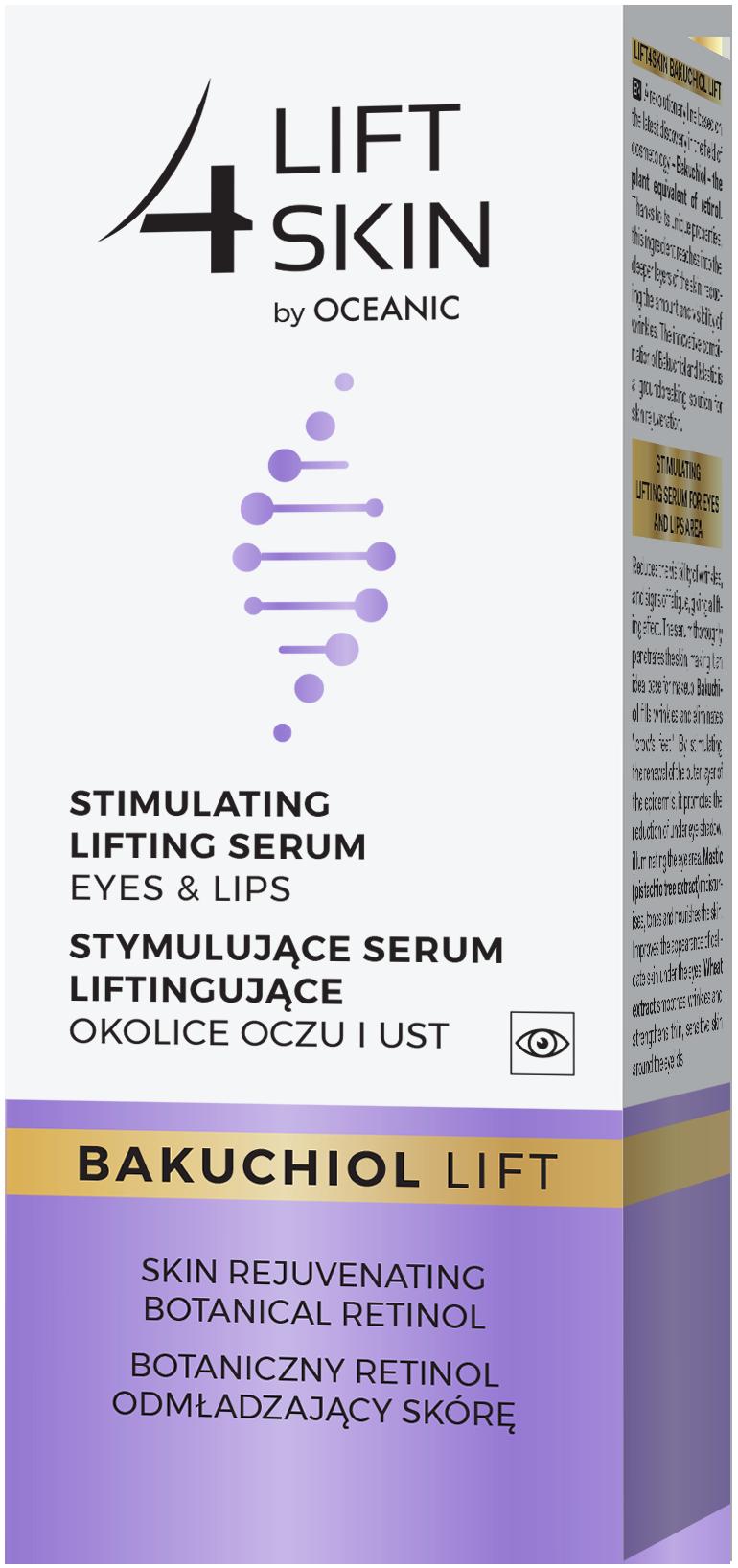 Stymulujące serum liftingujące okolice oczu iust zbotanicznym retinolem